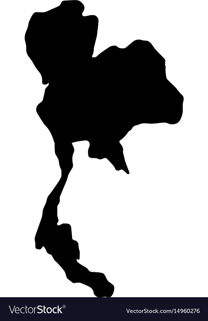 Thailand map silhouette