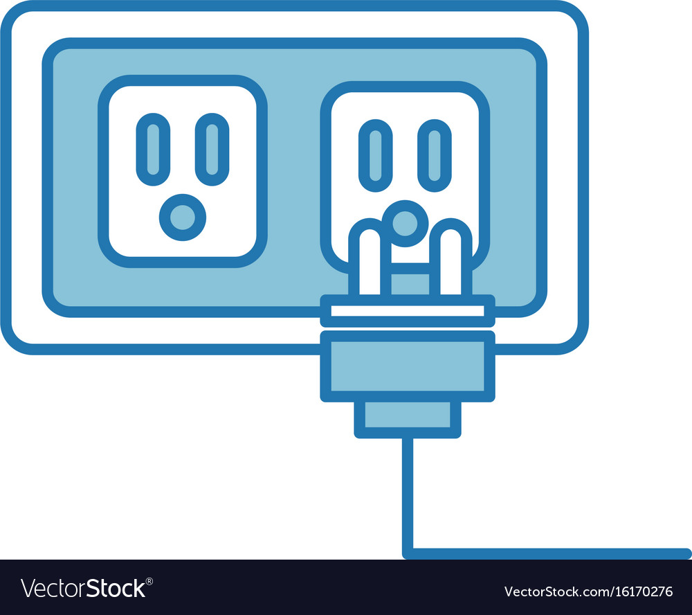 Wire cable connector icon Royalty Free Vector Image