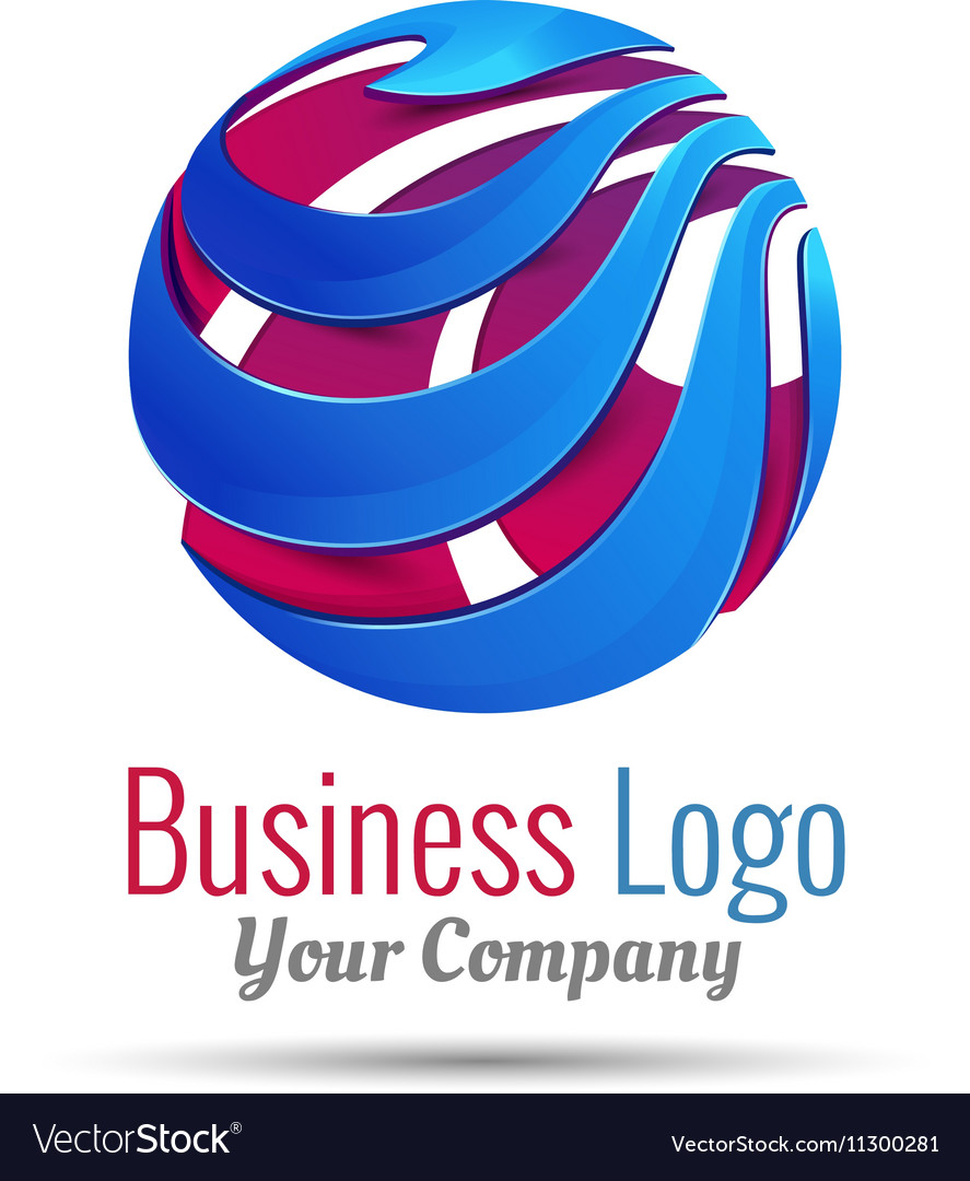 Abstract sign in sphere shape Logo for Business
