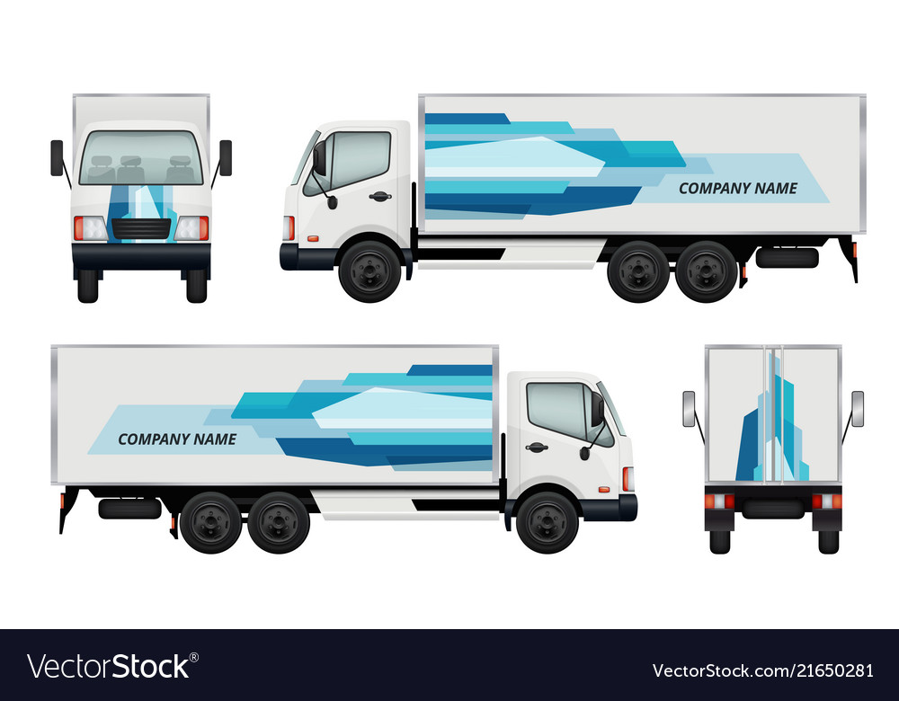 Car truck branding identity of truck