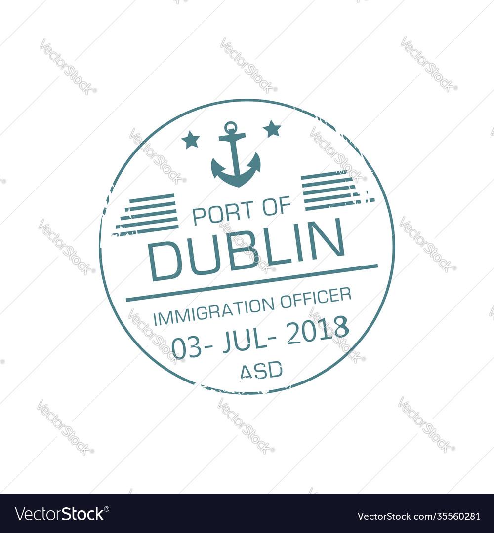 Immigration officer visa stamp dublin port