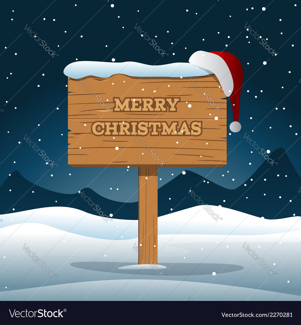 Merry Christmas Wooden Board