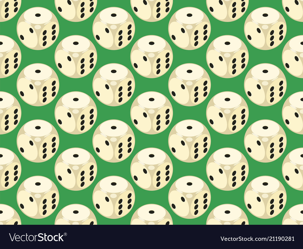 Seamless pattern with rounded assets