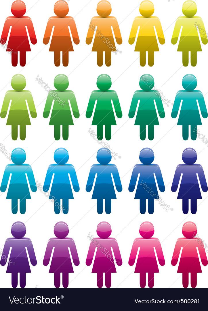 Woman symbols vector image