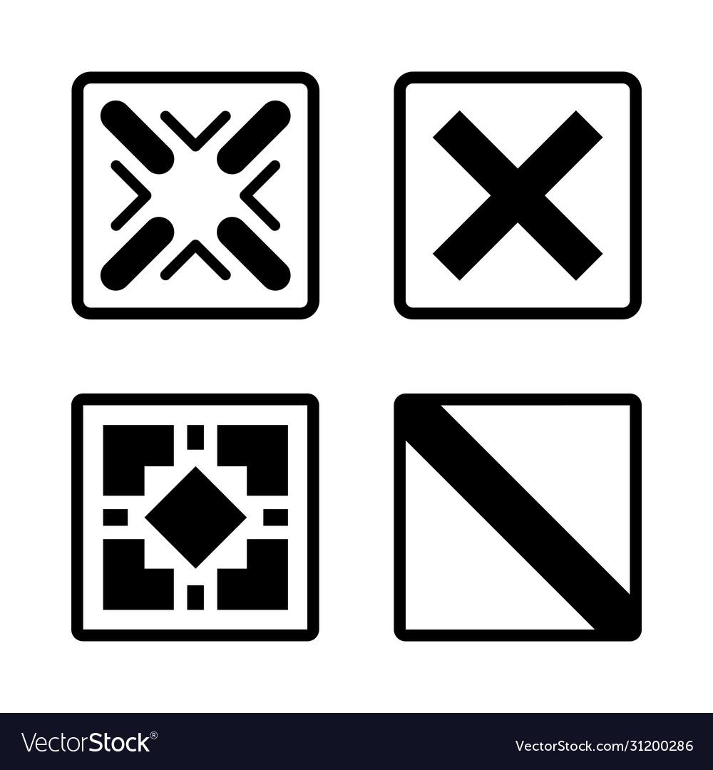Abstract futuristic graphic sci fi icons