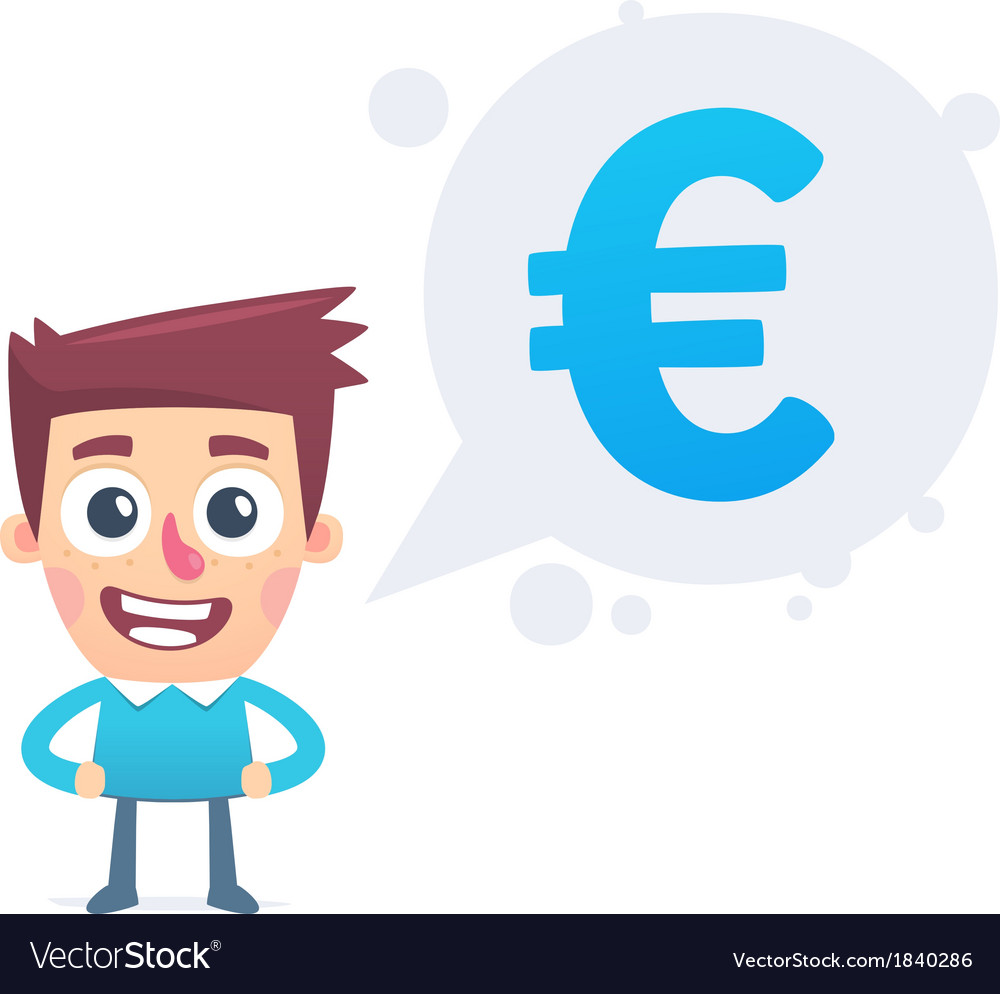 Analysis Of The Euro Currency Royalty Free Vector Image