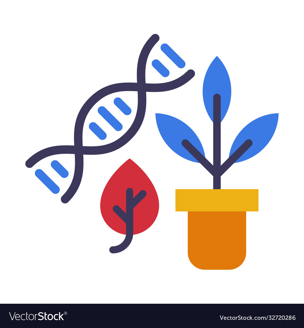 Biology lesson concept dna structure and plant in