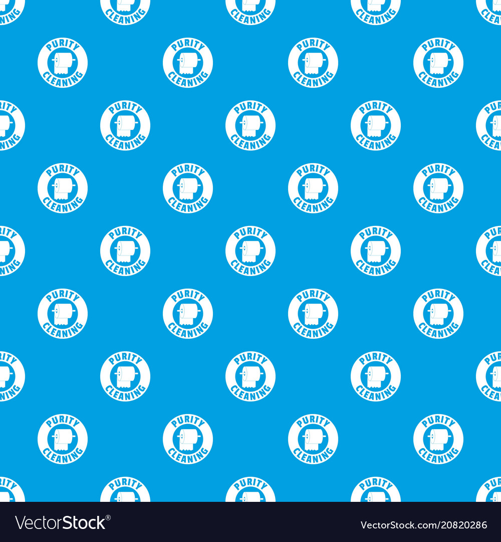 Cleaning toilet pattern seamless blue