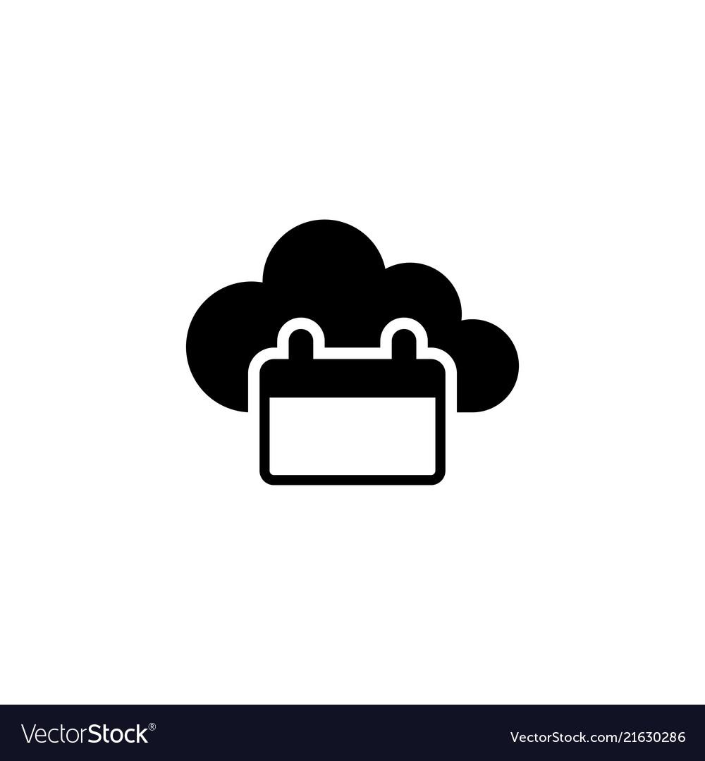 Cloud calendar flat icon