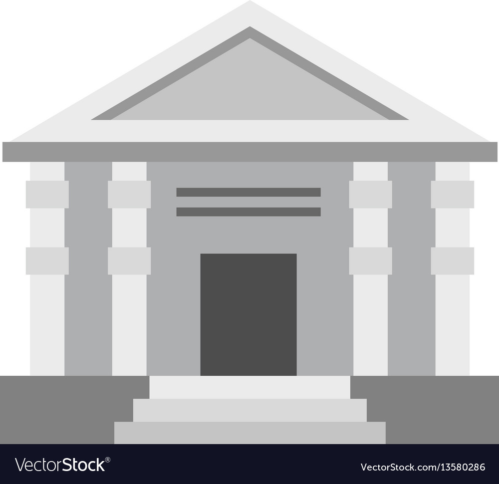 Colonnade icon flat style