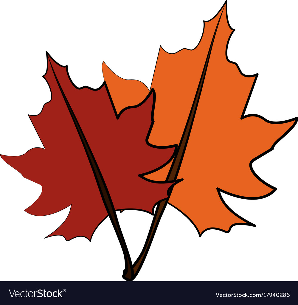 Fall Leaves Icon Image Royalty Free Vector Image