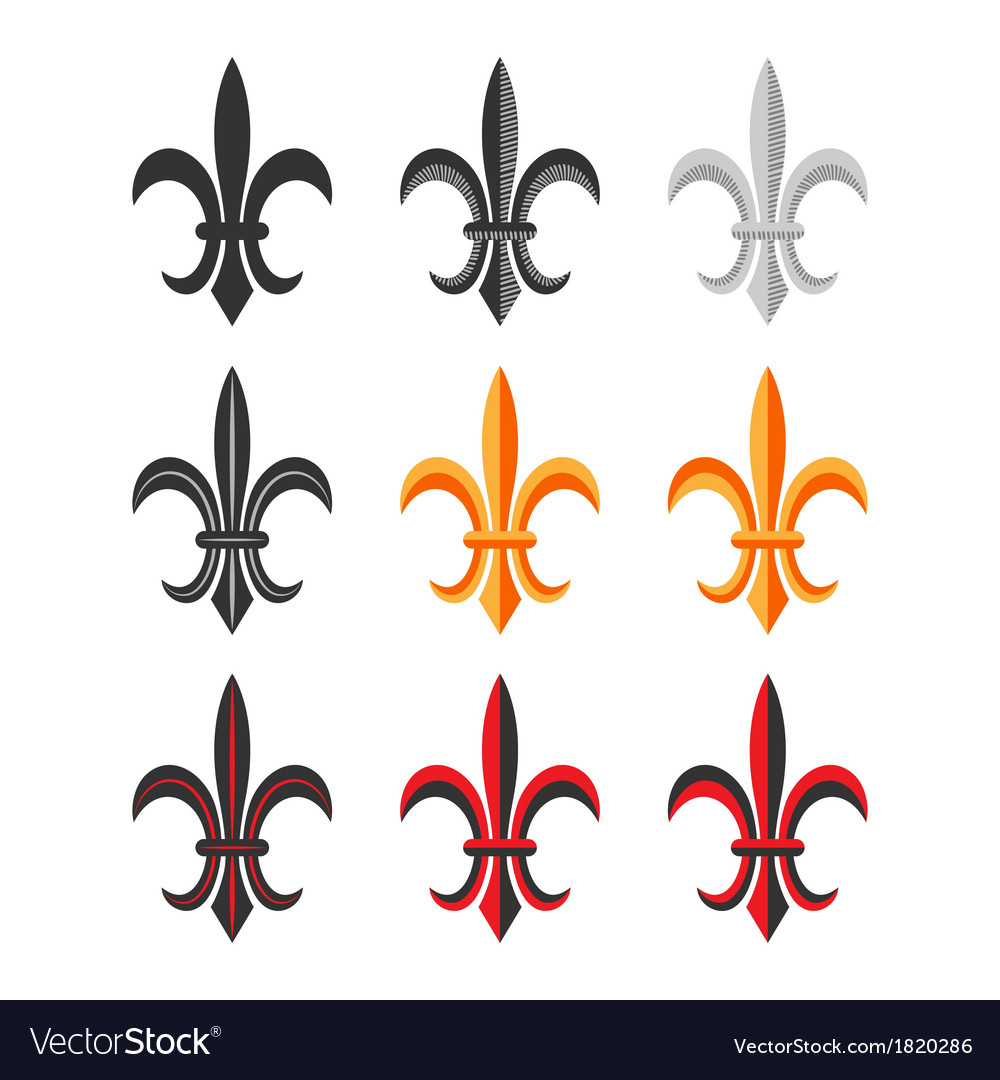 Fleur De Lis Royal Symbol Set