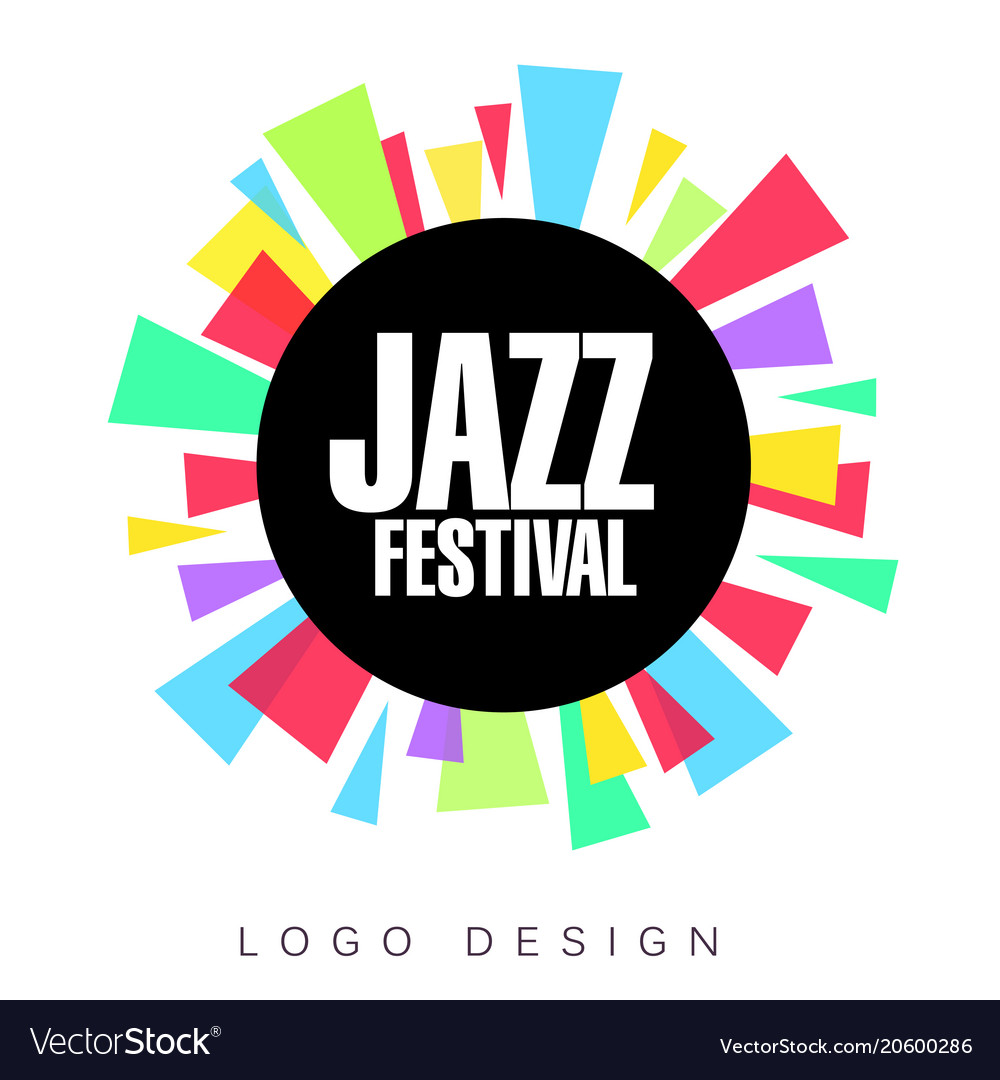 Jazz festival logo template colorful creative