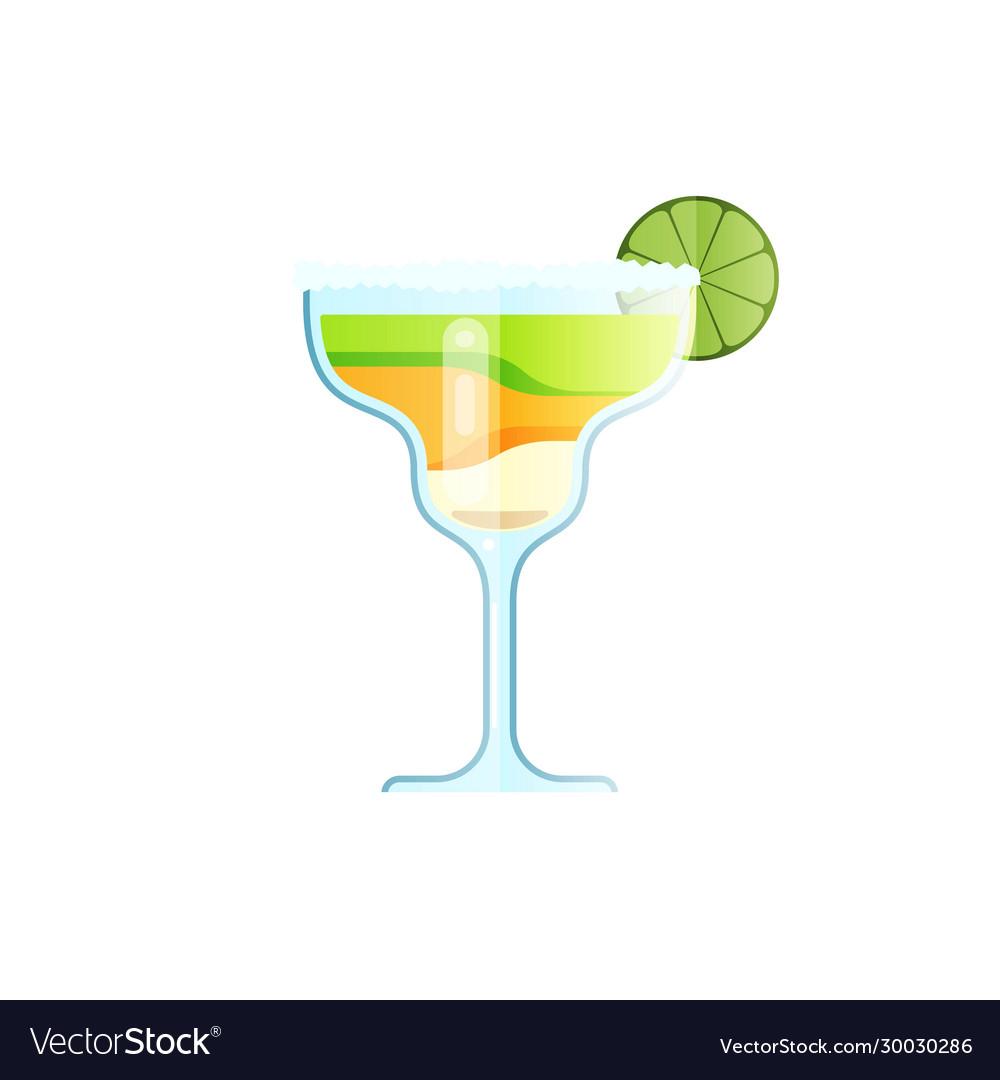 Margarita cocktail flat