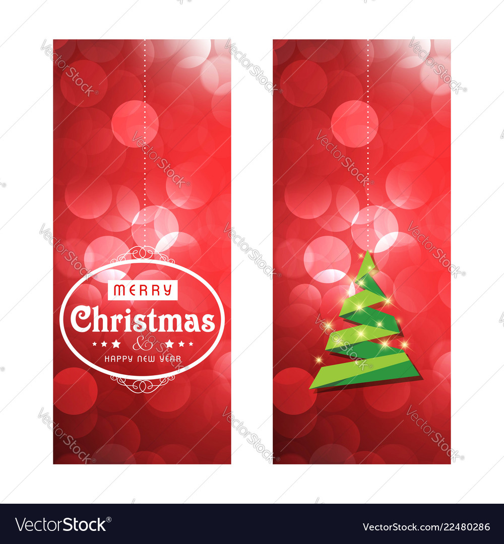 Merry christmas cards with creative design Vector Image