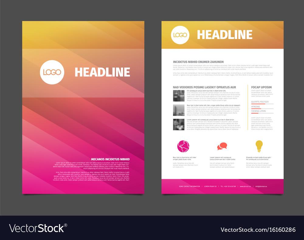 Modern brochure template flyer design template