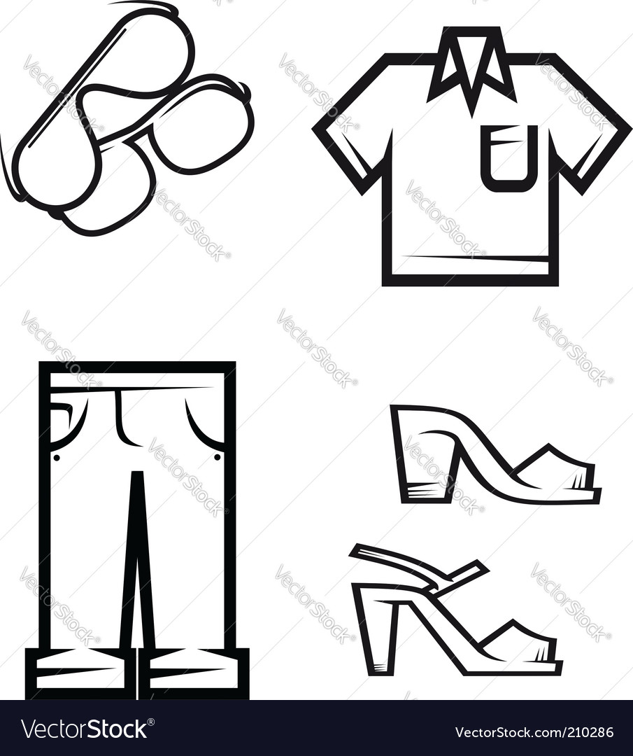 Set of people cloth vector image