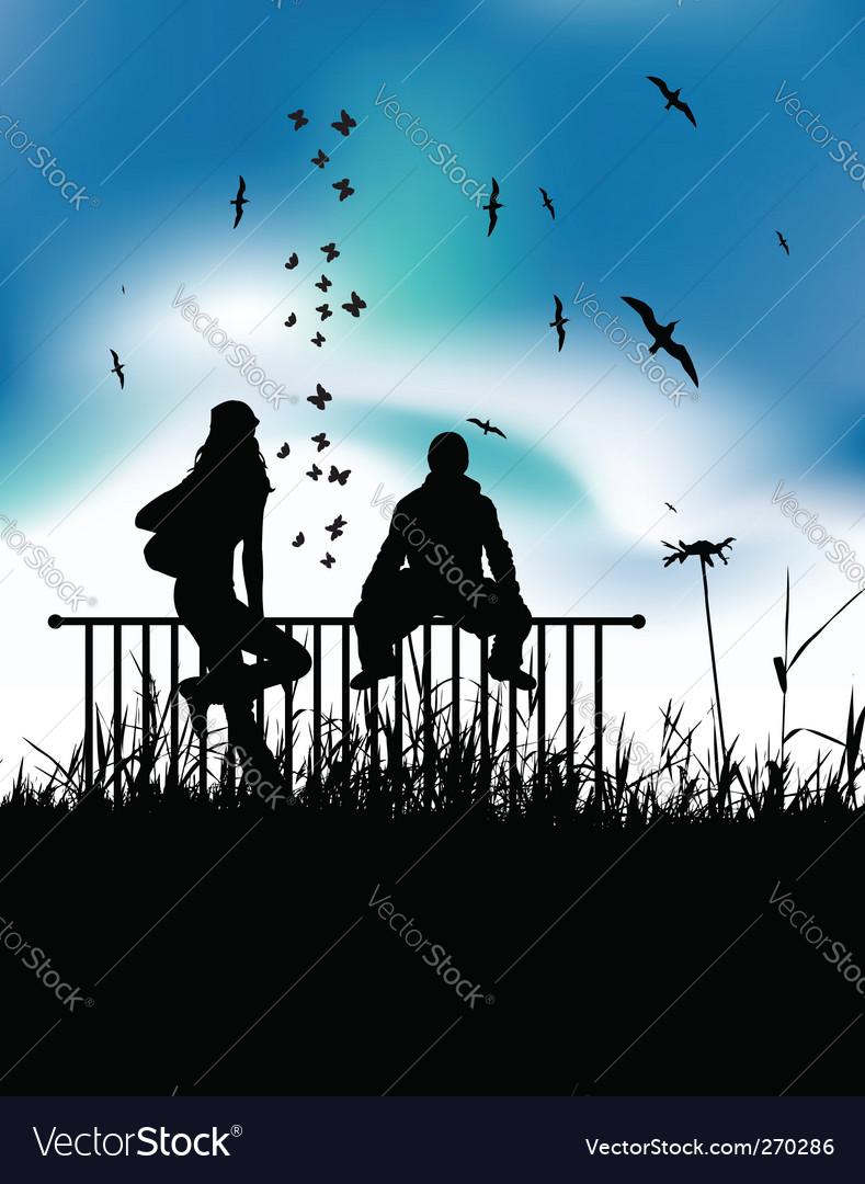 Sitting on fence