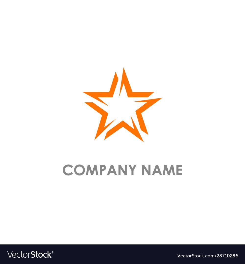 Star circle shape logo