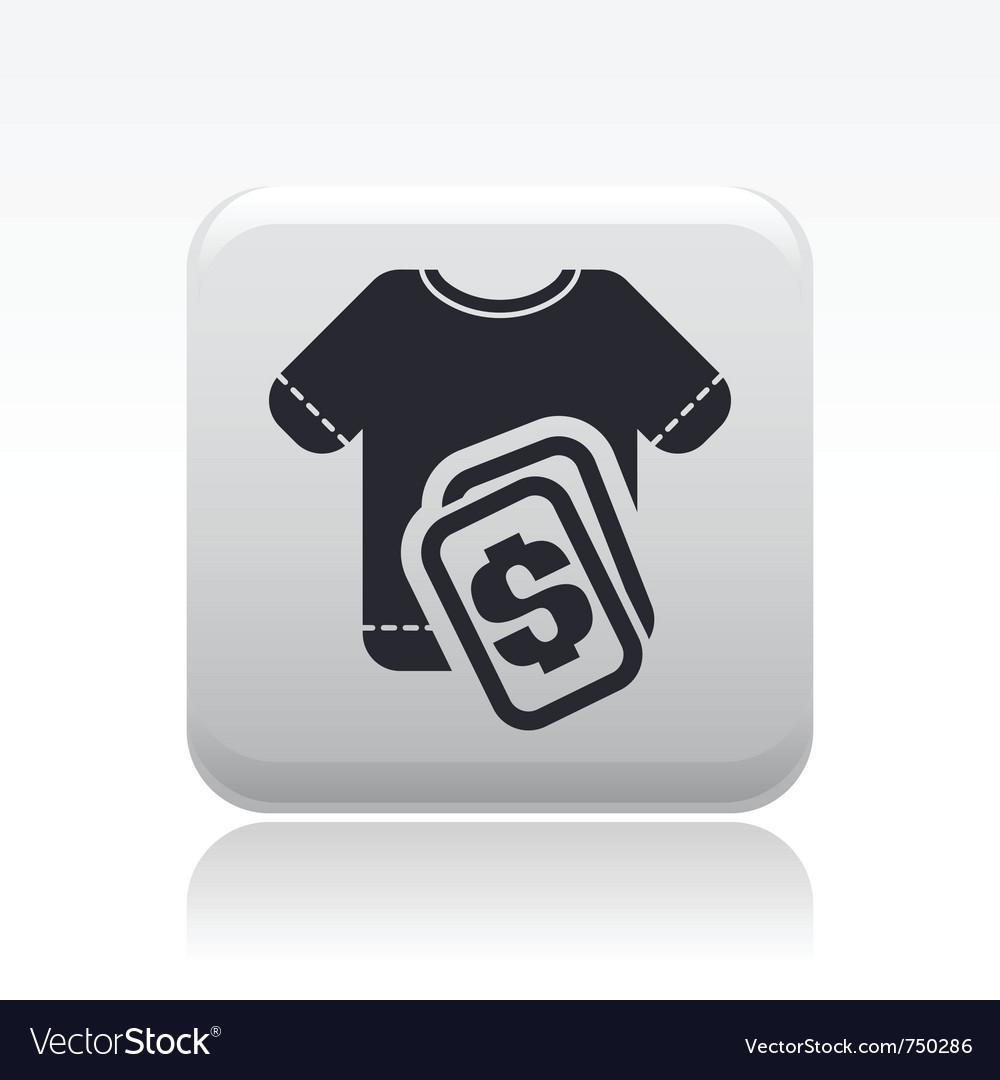 Tshirt sale icon