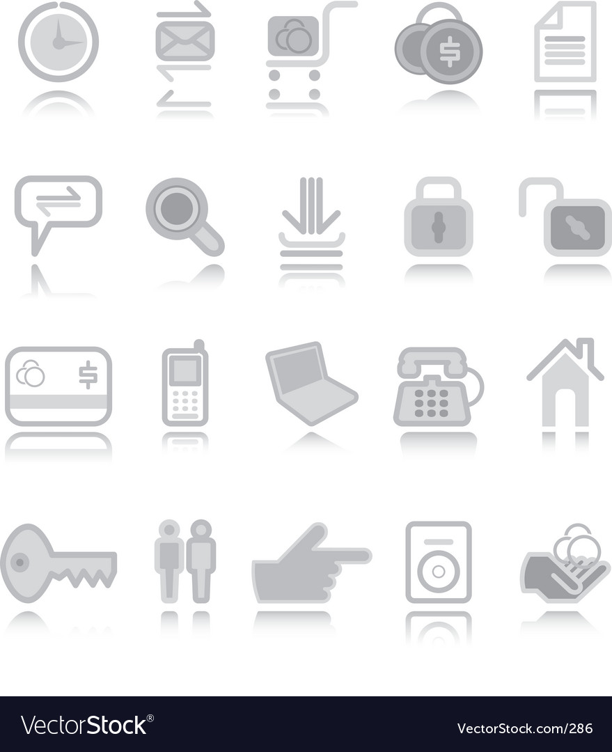 Web icons silver