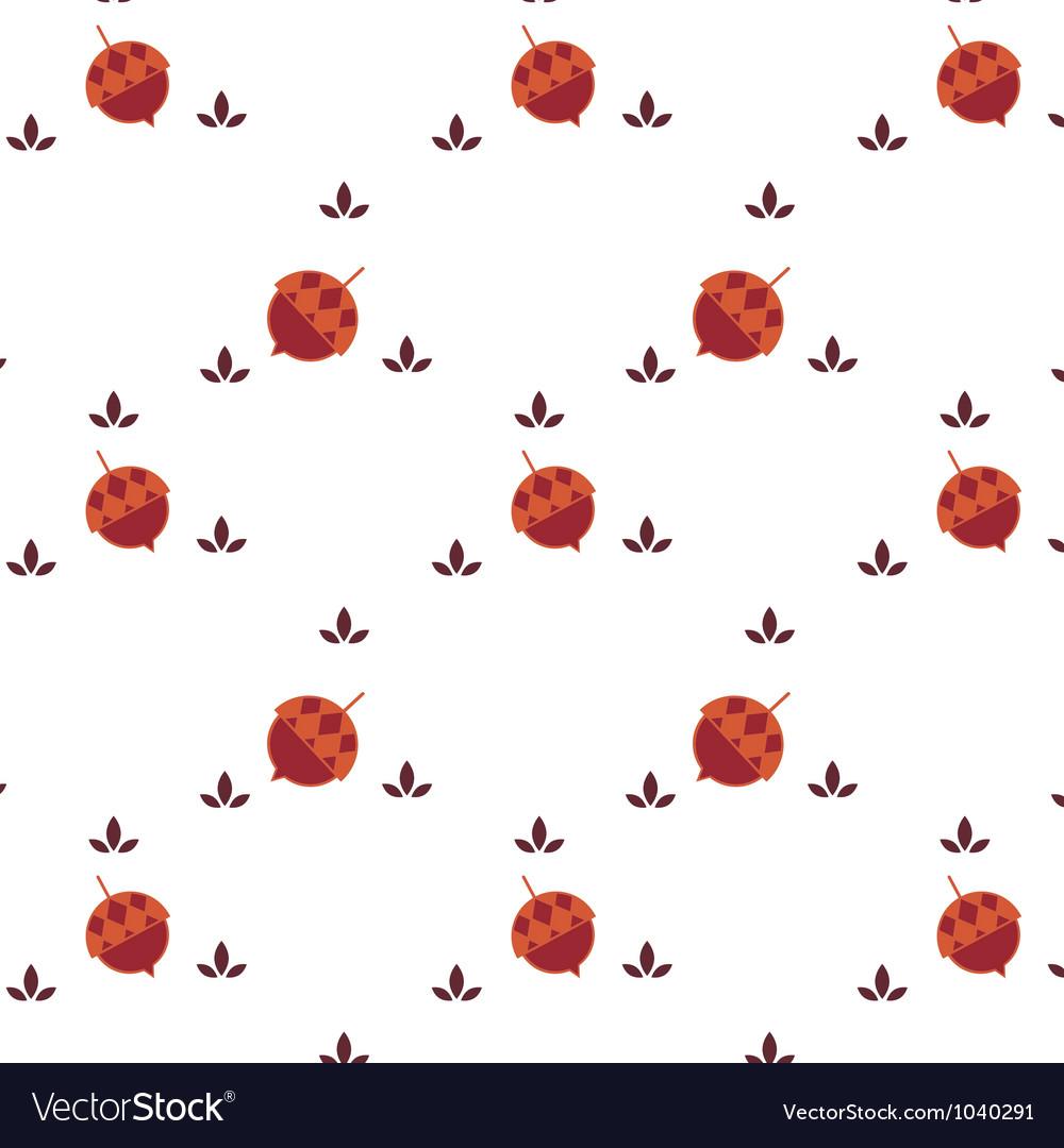 Acorn seamless background
