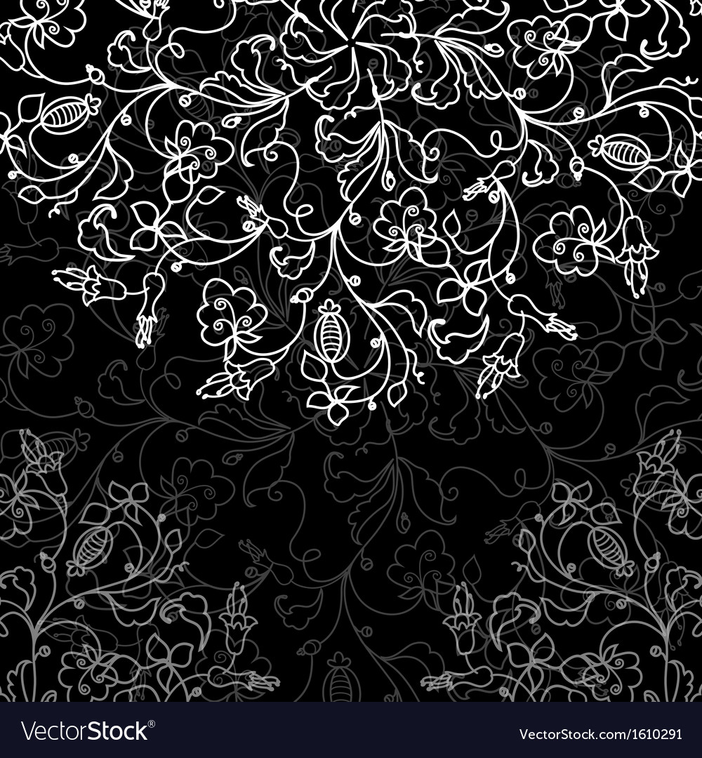 Chalkboard floral pattern