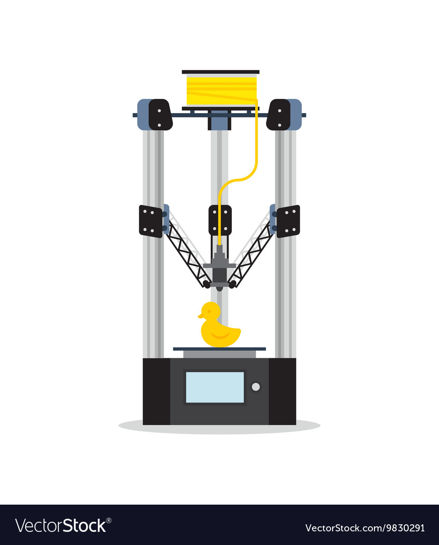 Icon - 3d printer printering a toy