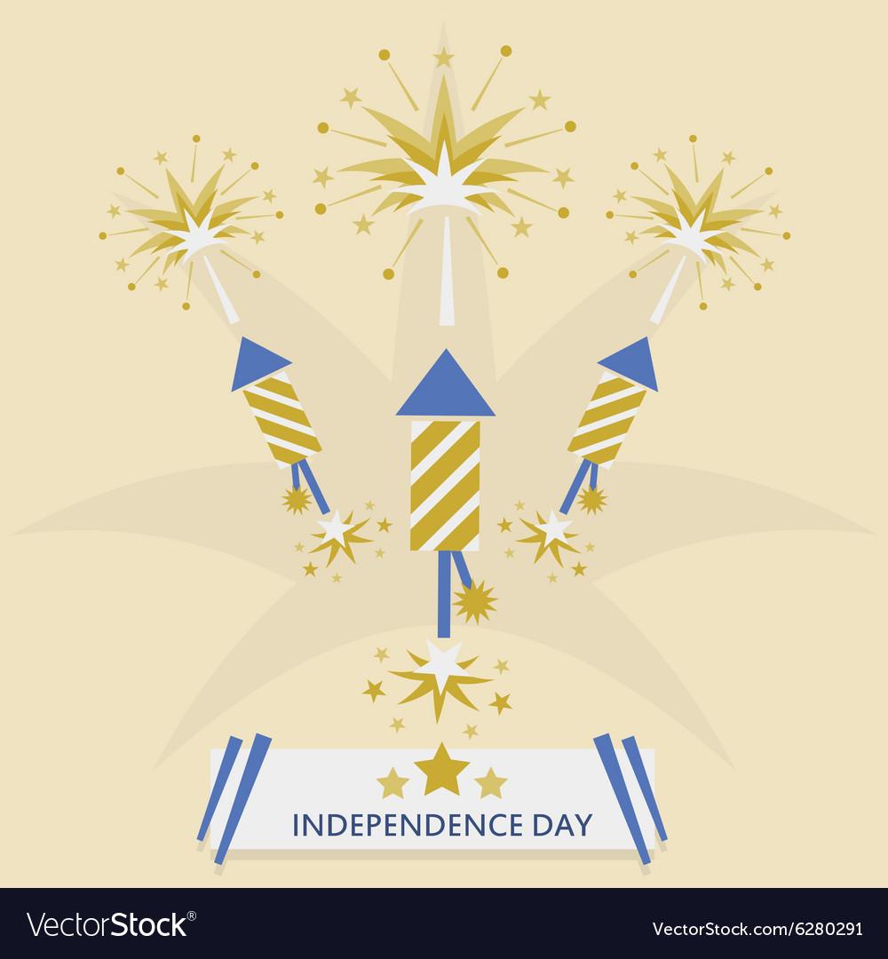 Independence Day with rocket fireworks set