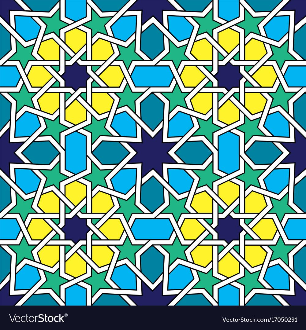 Moroccan Tiles Pattern Moorish Seamless