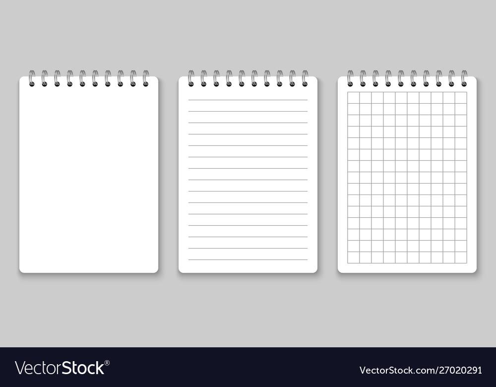 Realistic spiral notebook mockup