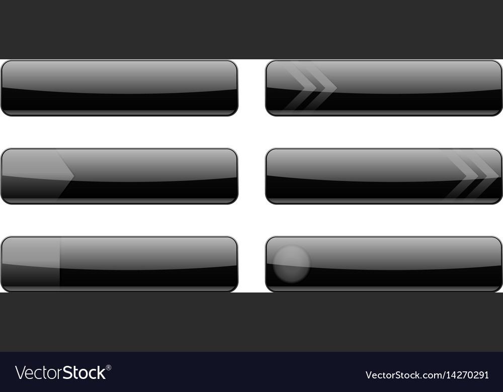 Website black menu buttons