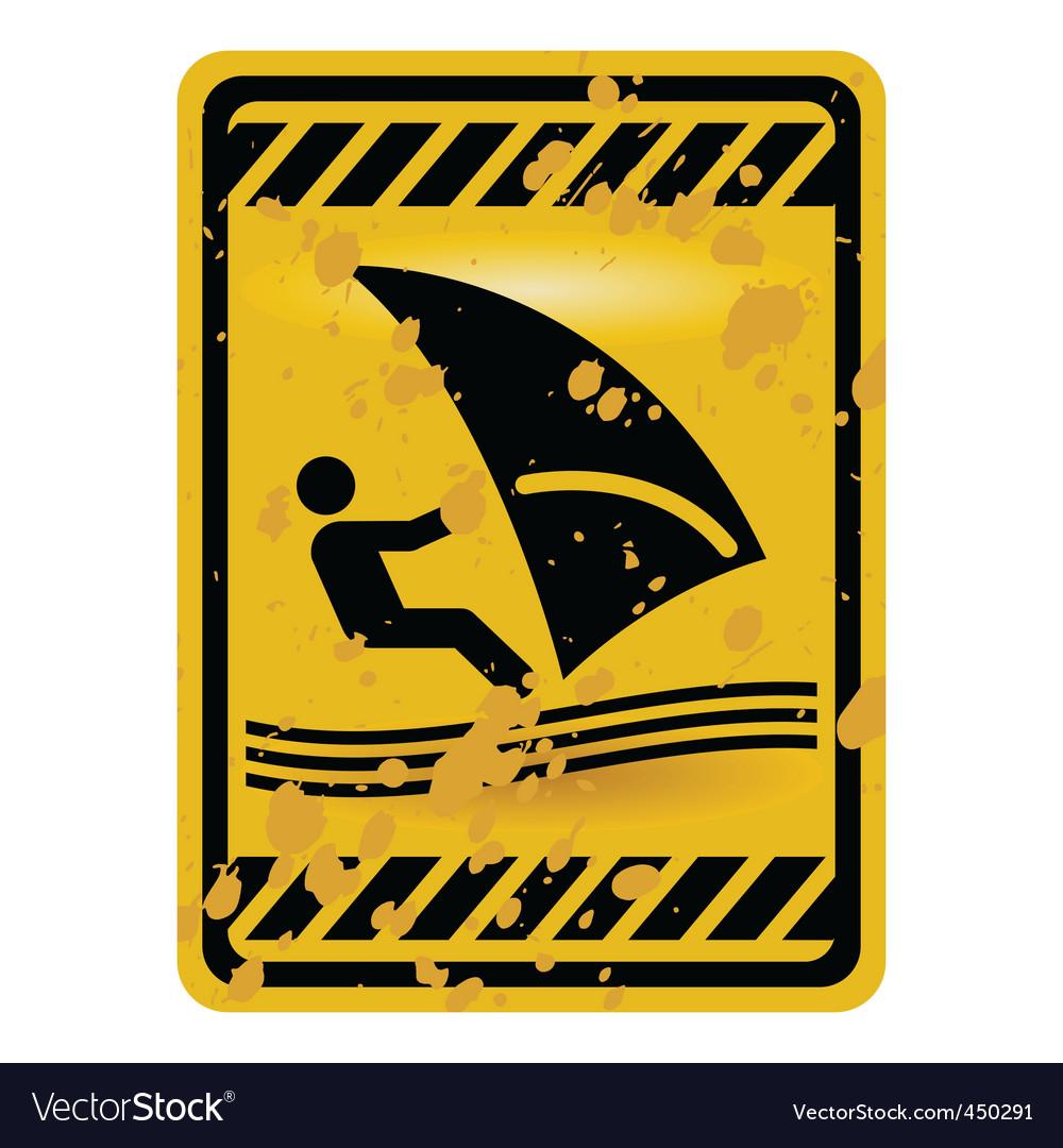 Windsurf area sign vector image