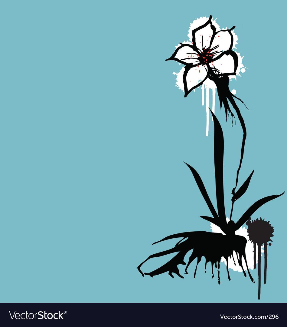 Ink flower vector image