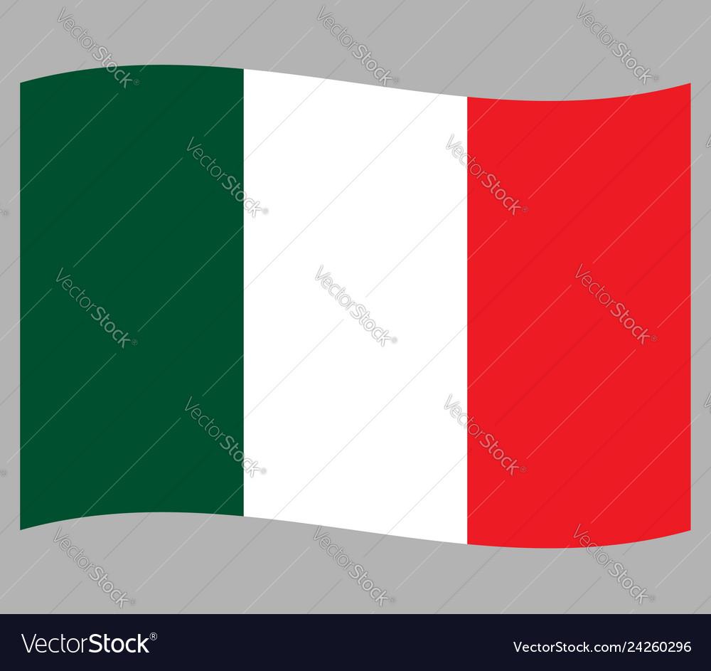 Italian national waving flag