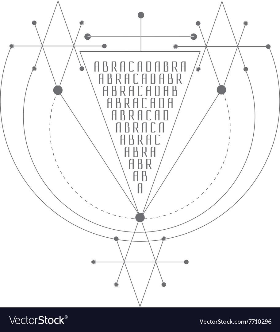 Magic alchemy symbol geometric logo for