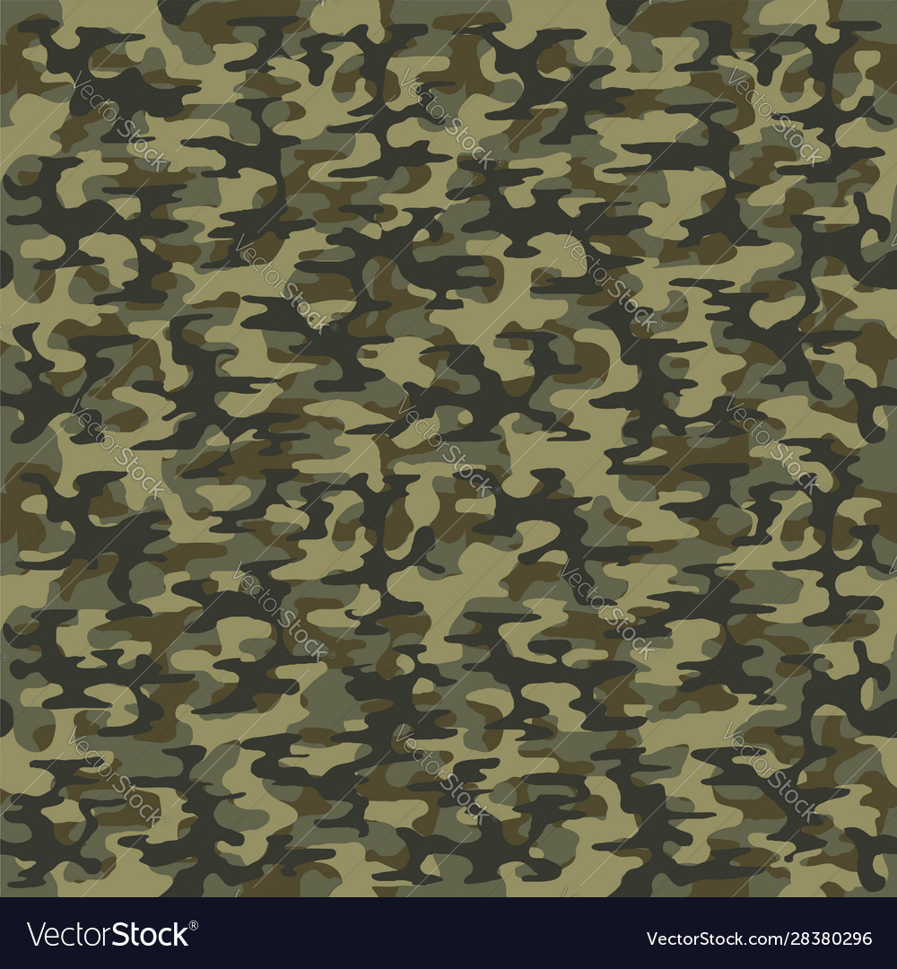 Military green camouflage seamless pattern