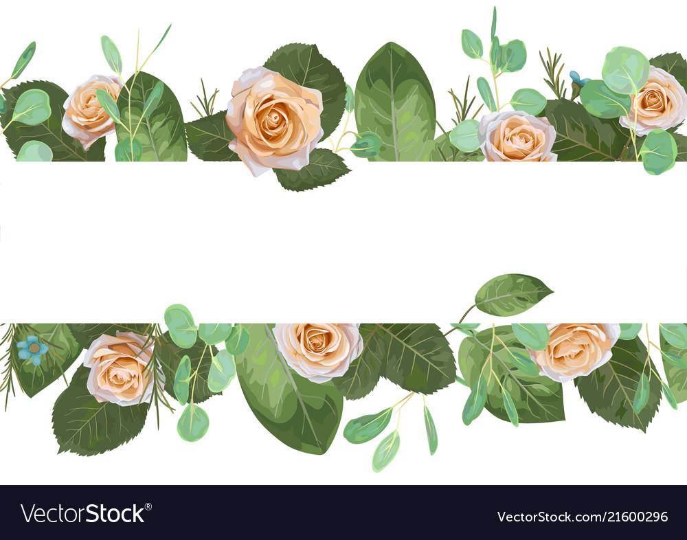 Romantic holiday banner postcard wedding