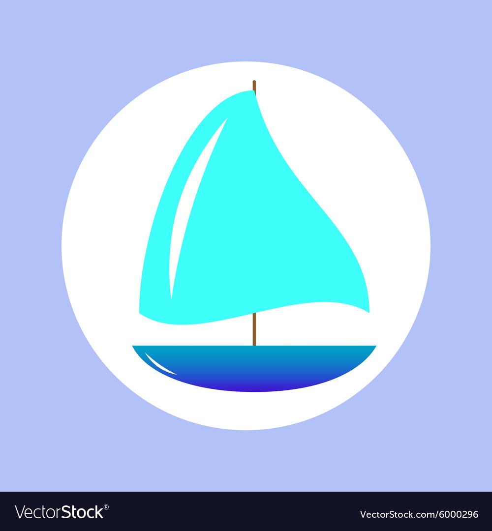 Sailing ship in circle