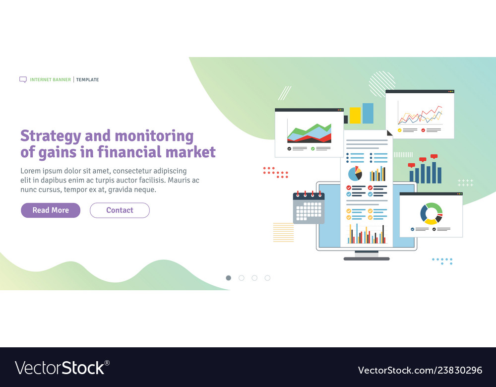 Strategy and monitoring of gains in financial