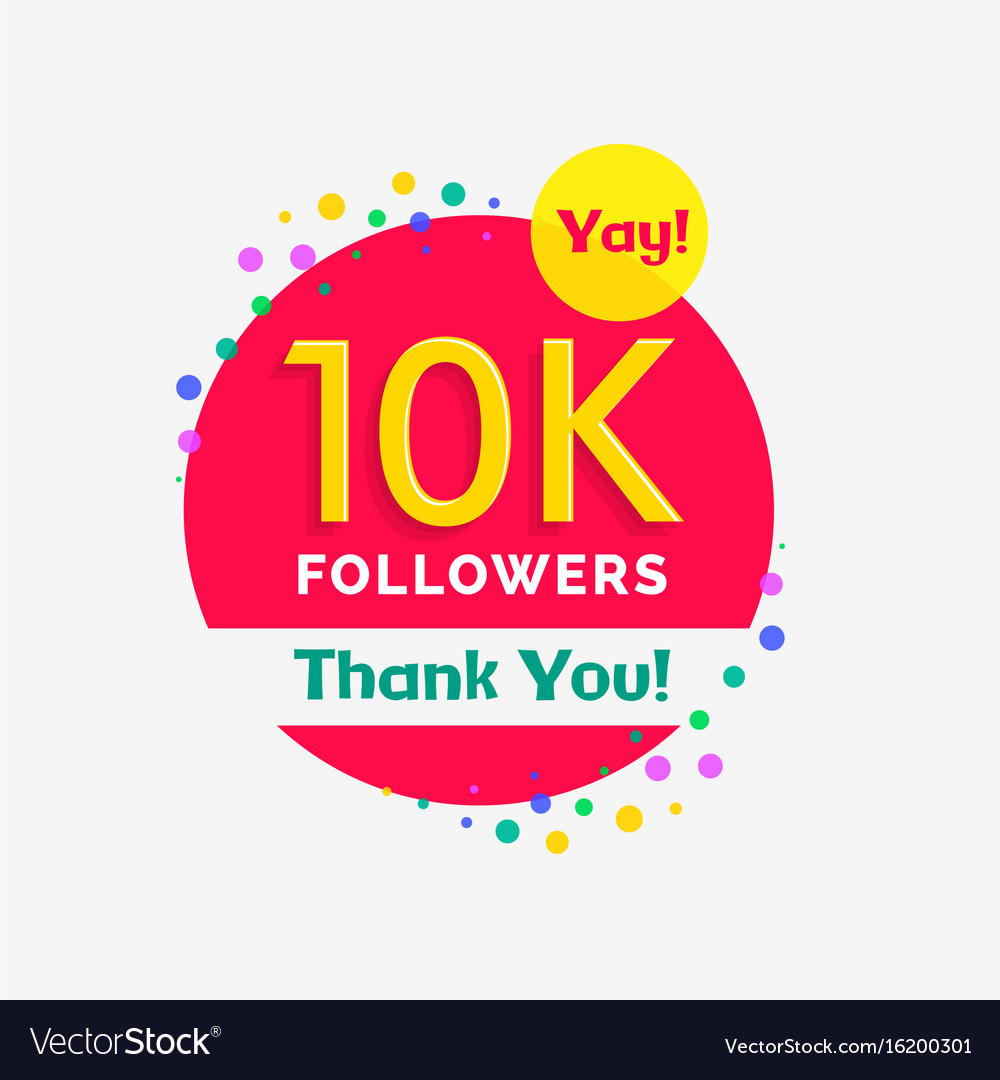 10000 followers poster with thank you