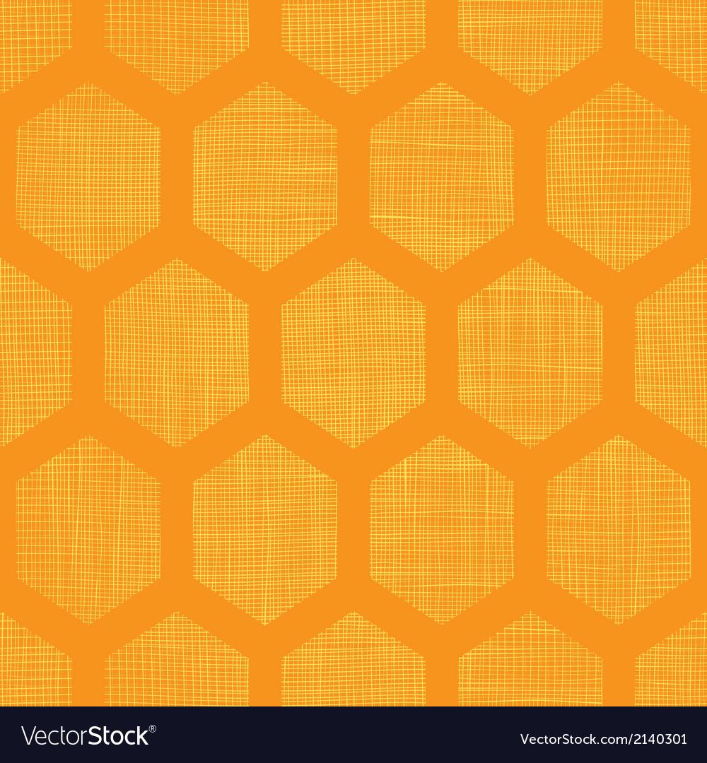 Abstract honey yellow honeycomb fabric textured