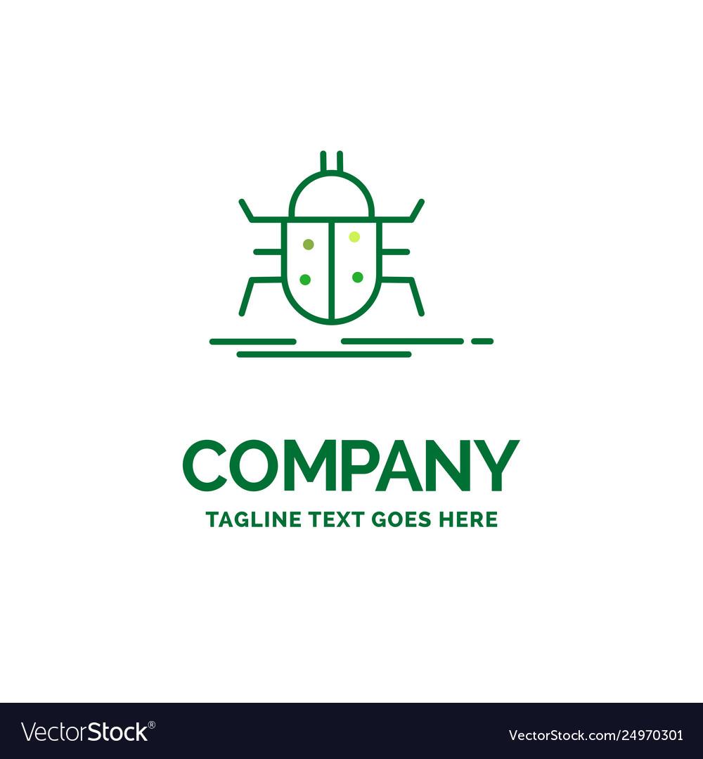 Bug bugs insect testing virus flat business logo