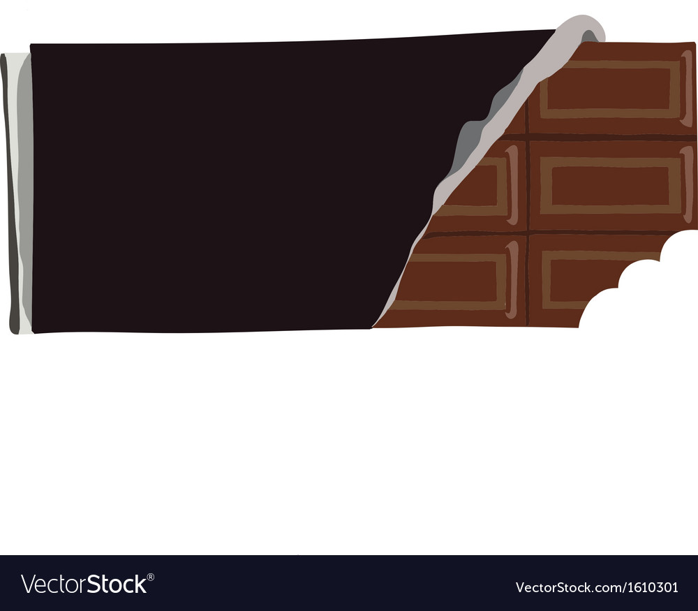 Chocolate bar with a bite missing vector image