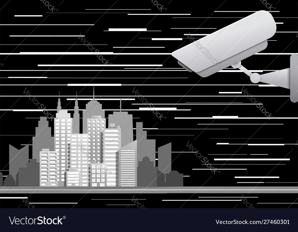 City video surveillance system abstract concept
