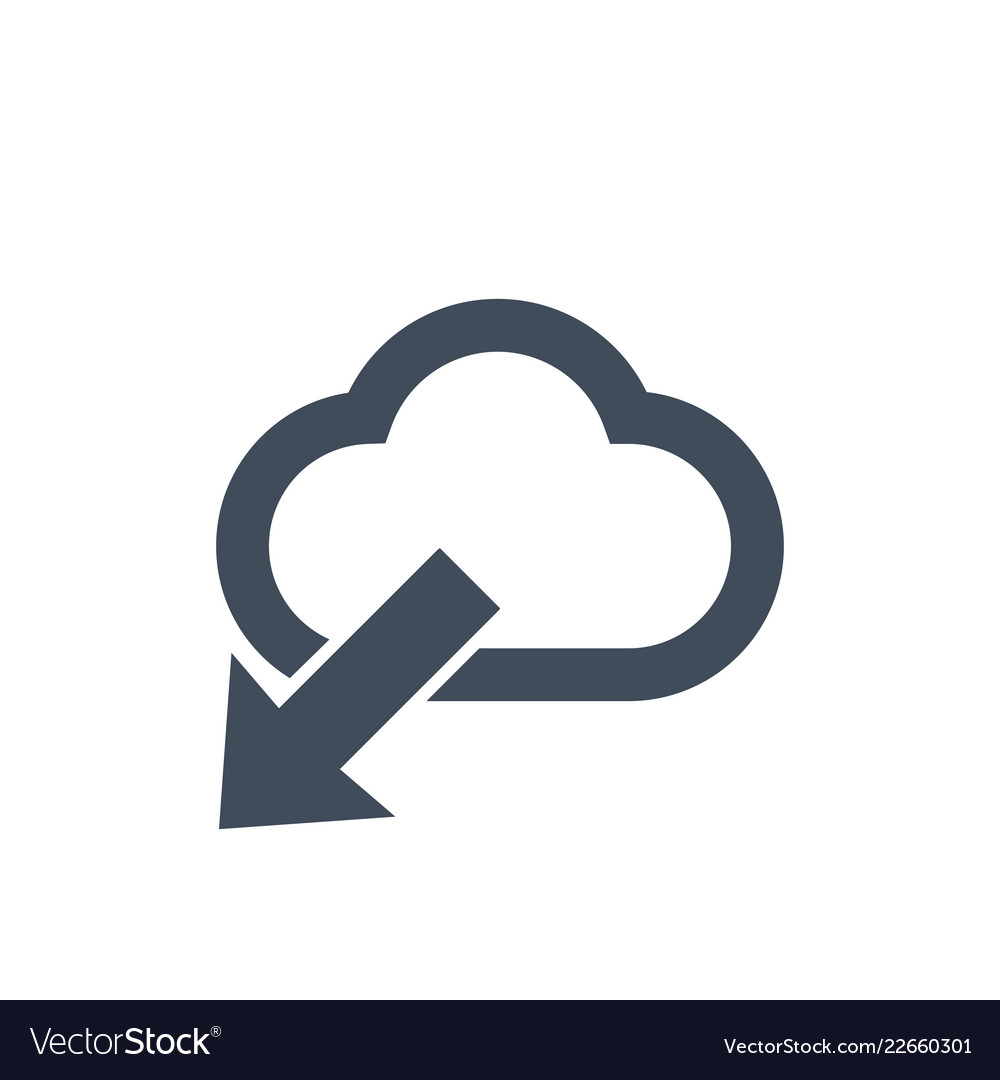 Cloud download icon flat designdata information