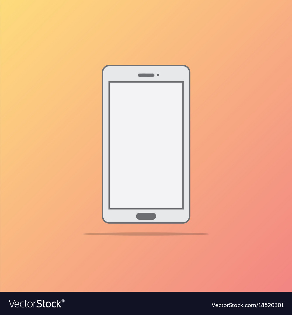 Flat style icon of phone
