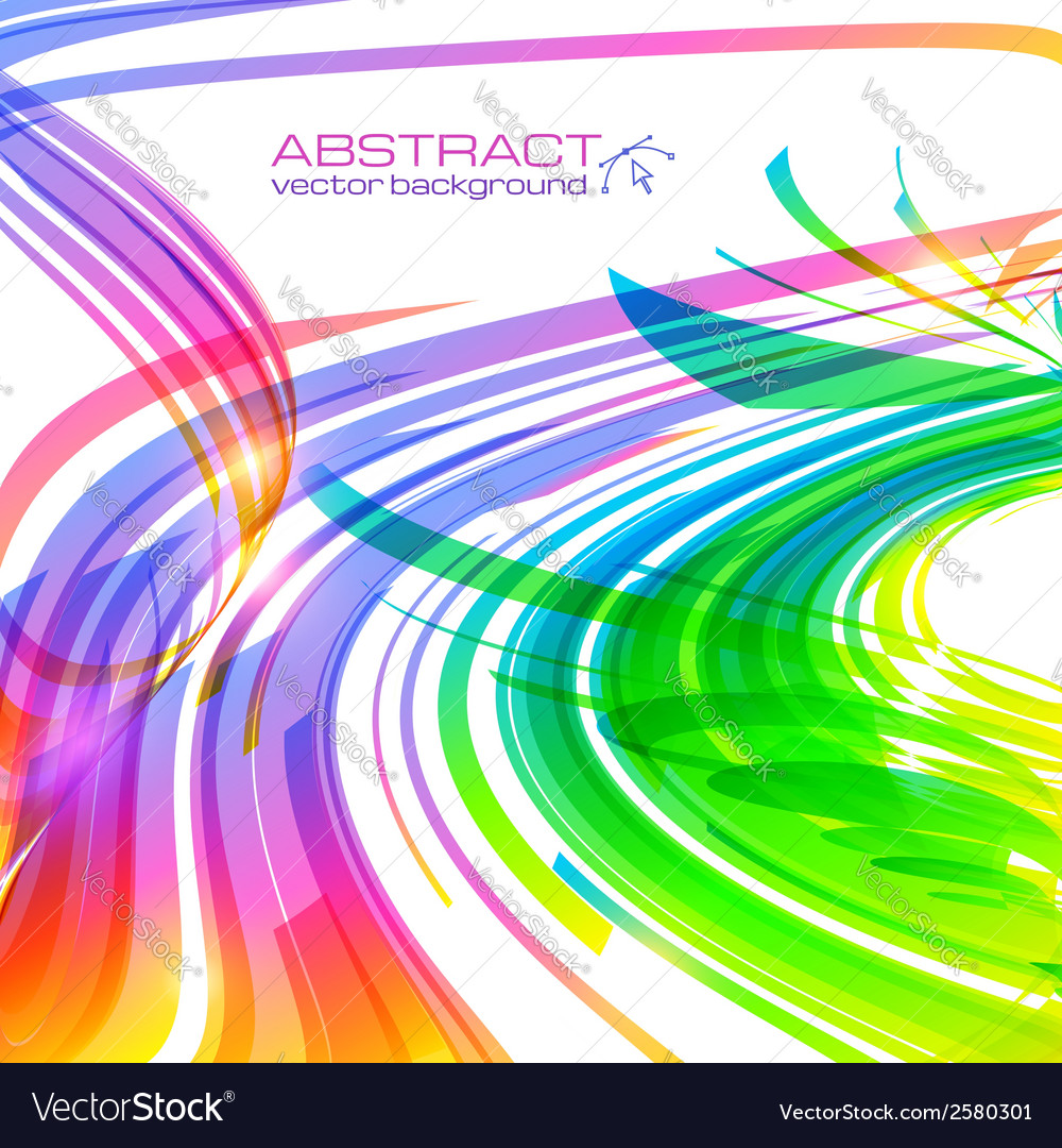 Rainbow colors abstract lines background
