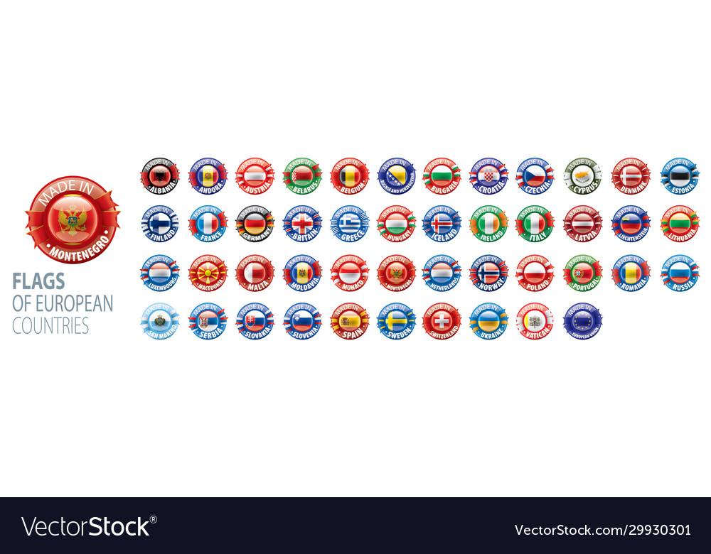 Set flags europe