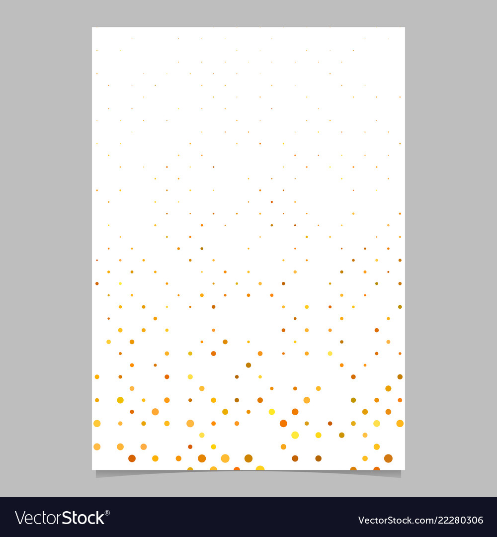 Abstract dot pattern brochure design - cover